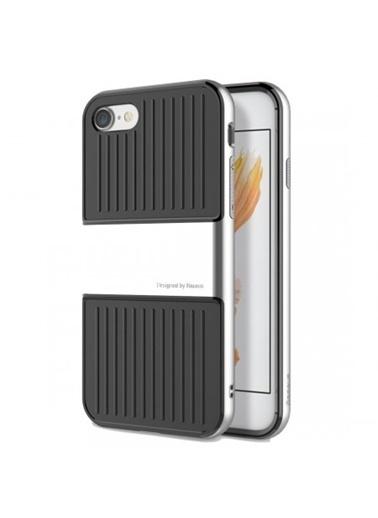 Baseus Iphone 7 / 8 / Se Travel Series Case Kılıf - Light Silver Renkli